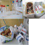 IsabelR: Tenemos varios apartados: papel y cartón; plásticos y envases; aceite, pan (para las gallinas y pájaros); bolsas de la carnicería (de vuelta al carnicero) frascos (para la familia, para que hagan conservas); las pilas en el envase que tengo en el trabajo, los móviles en el envase del ayuntamiento y los fluorescentes en el envase del súper. Si hay algo voluminoso, vamos al punto limpio de Roces o la carretera del Piles a llevarlo.