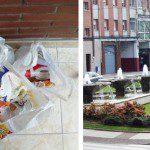 Nuria: Envío dos fotos. Una muestra el contenedor donde reciclamos los plásticos, las latas, los bricks y la basura propiamente dicha y la otra foto corresponde a la bolsa que tenemos en la galería de nuestro piso, obsequio de COGERSA en una visita familiar de Puertas Abiertas, en la que reciclamos el papel y el cartón.