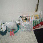 Paula: En mi casa se recicla con cuatro bolsas, cada una de ellas para: cartón, vidrio, plástico y basura normal.