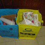 Soledad: El contenedor azul y amarillo de la cocina ya están casi llenos.