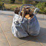 Mª Lidia: Realizo todo tipo de bolsas y cestas, por ejemplo, una bolsa para buscar y tener la leña en la chimenea. También me sirve para recoger fruta, piñas, tener guardadas herramientas del jardín, etc.