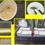 Mª Lidia: Siempre tengo hecho jabón artesanal (hecho con aceite de oliva usado), y me encanta regalar este jabón, decorado con plantas aromáticas de mi jardín, lavanda, romero, reinaluisa y con restos de cuerdas, rafia, conchas ...etc. Cuando los regalo, a la gente les encantan. Normalmente el primero nunca lo llegan a usar, lo guardan para decorar y aromatizar, pero los siguientes ya los usan, es un detalle que tiene muy buena acogida.