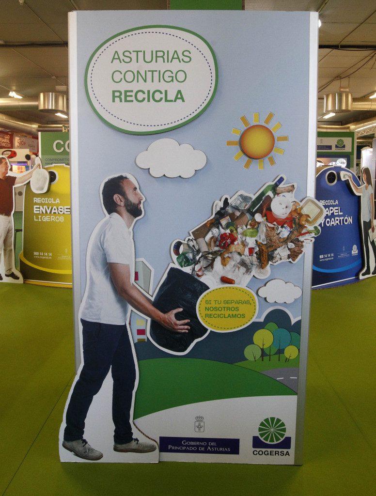 Stand de Cogersa en la Feria de Muestras de Asturias 2015. Foto: Pablo Lorenzana