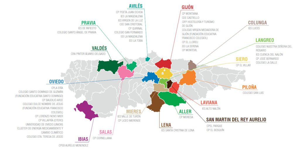Colegios e institutos de Asturias en la Semana Europea de la Prevención de Residuos